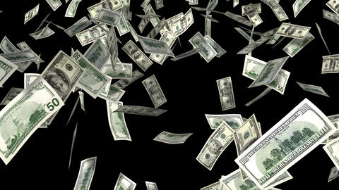 money rain Stock Video Footage