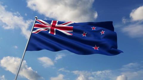 New Zealand flag Animation