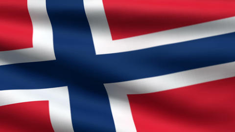 Norwegian flag Animation