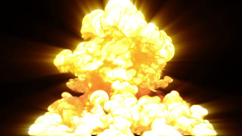 nuclear explosion Stock Video Footage