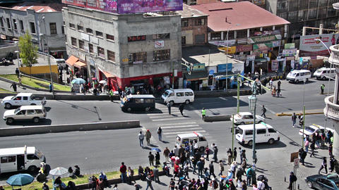 La Paz, Bolivia Intersection Footage