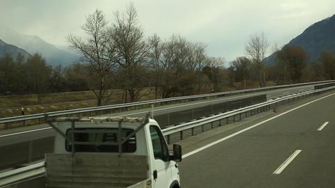 Road Journey at Switzerland Footage