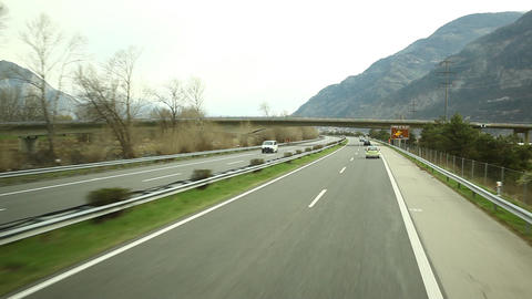 Road Journey at Switzerland Footage
