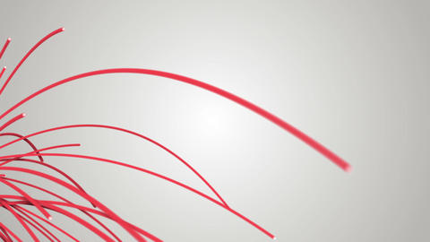 Red abstract 3d shapes evolving Animation