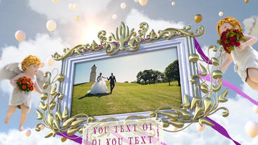 Wedding Photo Frame In Sky After Effectsテンプレート