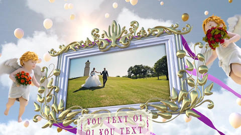 Wedding Photo Frame In Sky After Effects Template