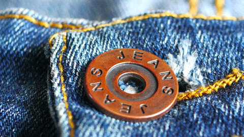 Metal button on jeans close up Footage