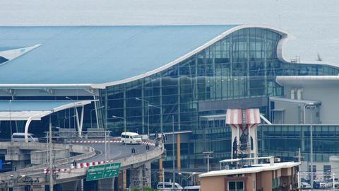 New terminal at Phuket international airport Live Action
