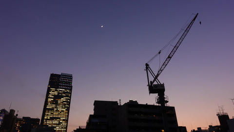 Time lapse of Tokyo modern buildings at sunset ビデオ