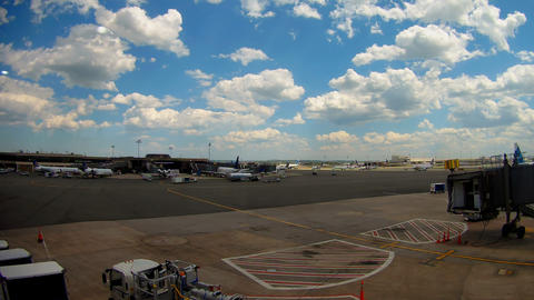 NEWARK, NJ -30 AUG 2017- Planes from United Airlines UA at Newark Liberty Footage