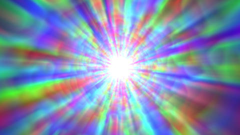 Psychedelic Colorful Bright Burst Glow Abstract Motion... 動画素材, ムービー映像素材