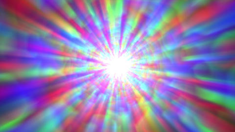 Psychedelic Colorful Bright Burst Glow Abstract Motion Background Fast Complex Animation