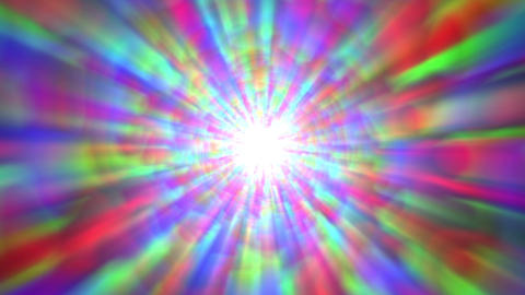 Psychedelic Colorful Bright Burst Glow Abstract Motion Background Fast Rotating Animation