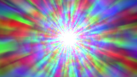 Psychedelic Colorful Bright Burst Glow Abstract Motion Background Fast CG動画素材