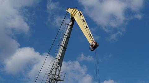 Work port crane on the sky background Footage