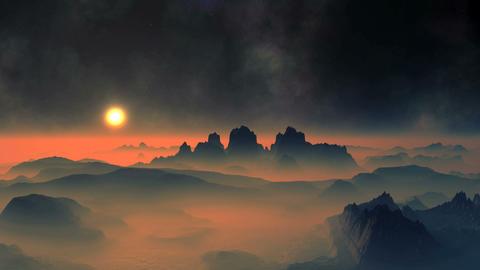 Sunset and Nebula 画像