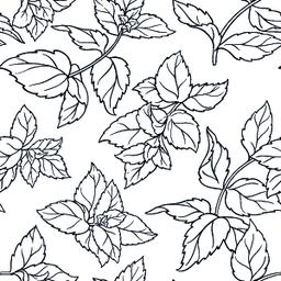 peppermint seamless pattern Vector