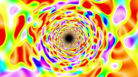 Psychedelic Bright Multicolored infinite Straight Tunnel Fast Twisting Animación
