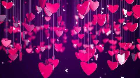 Romantic Love Heart Background Animación
