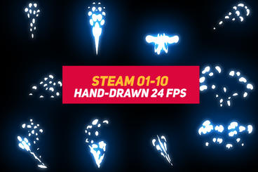 Liquid Elements Steam 01-10 After Effects Template