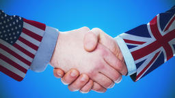 United States - United Kingdom / Handshake concept animation about countries and Animation