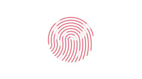 animation of scanning and analysis fingerprint on mobile device Animation