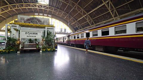 The railway station in Bangkok 影片素材