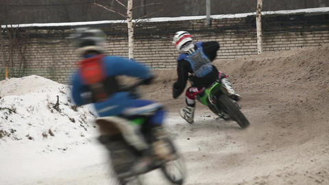winter motocross to turn Footage