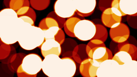 Light Spinning Spots Bubbles Warm Red Fuzzy Focus Bokeh Motion Background Loop Animation