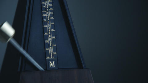 Close-up shot of vintage metronome Footage