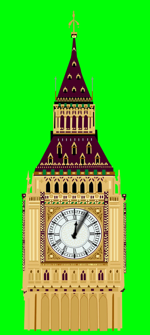 Big Ben sped up Stock Video Footage