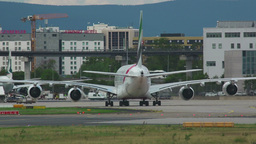 Emirates Airbus 380 taxiing Footage