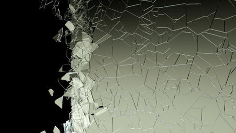 4k Glass crack and shatter. Alpha Animation