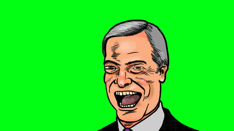 Nigel Farage opens his mouth Animation
