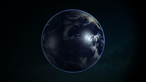 Planet Earth In Space On Galaxy Background stock footage