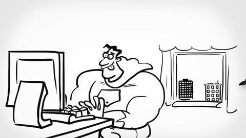 Superhero preoccupied Animation
