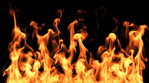 Fire With Swirls Footage