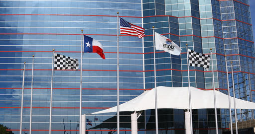 Flag at the Texas Motor Speedway Live Action