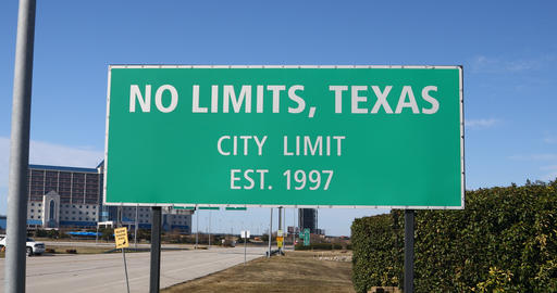 No Limits Texas sign at Texas Motor Speedway Live Action