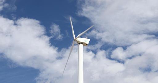 Wind Turbine at Apogee Stadium in Denton Texas ビデオ