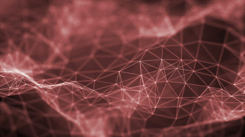 Plexus Surface Looped Red Background GIF