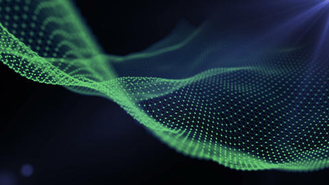 Futuristic wire animation waving. Abstract background loop Footage
