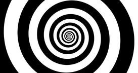 Hypnotic black and white zooming Spiral in 4k Animation