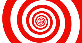 Hypnotic red and white zooming Spiral in 4k Animation