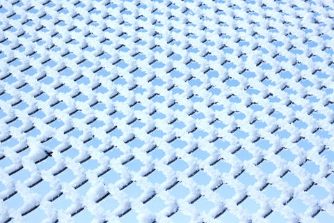 metal mesh and sky texture rime Fotografía