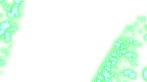 green spots on a white background. information splashes. green holographic Live Action