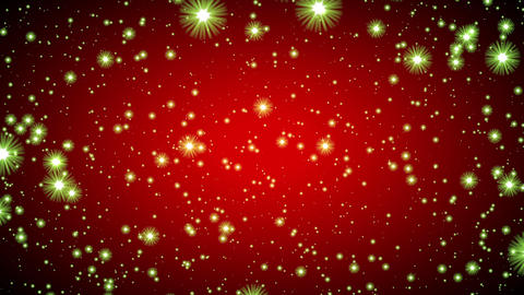 Red Vignette Green Glow Stars Infinite Flight Motion Background Loop Animation