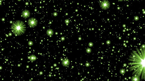 Numerous Green Glow Neon Stars Infinite Flight Motion Background Loop roll left Animation