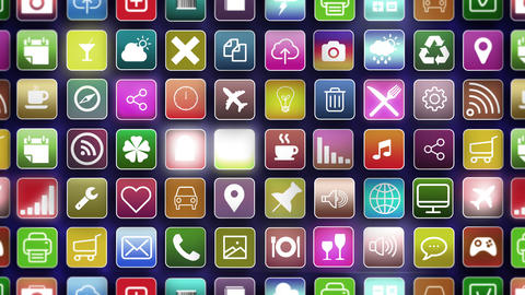 Apps Seamless Background zoom out Animation