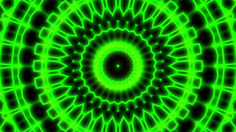 Ornate Green Light Burst Disco Neon VJ Abstract Motion Background Loop Close 1 Animation